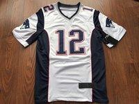 al por mayor jerseys mayordomo-2017 Niños Juventud # 12 Tom Brady # 11 Edelman Juliano # 87 Rob Gronkowski Navy Blanco Jerseys Cosido # 21 Butler Super Bowl LI