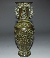 antique brass vases - Chinese Bronze Vase with Ming Dynasty XuanDe Mark Kwun Yam sons