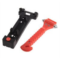 Wholesale New1pc Car Auto Window Glass Breaker Emergency Hammer Belt Cutter Bus Life Safe Escape Tool Drop Shipping