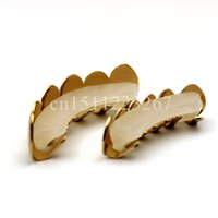 Wholesale Fashion Jewelry Body Jewelry WAKACARA sets REAL GOLD PLATED HIPHOP TEETH GRILLZ TOP amp BOTTOM GRILL SET Bling Mouth Silver Custom Teeth
