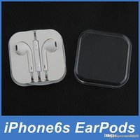 Charm apple earpods - Original Apple EarPods Earphones Headphones Headset with Mic and Volume Control Crystal Box for iPhone SE c s s Plus iPad