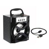 Acheter Boîte de haut-parleur de radio-MS-134BT Haut-parleurs Bluetooth Haut-parleurs portatifs TF Card Radio FM Haut-parleur Sound Box USB 3.5mm Wired Plug Haut-parleur extérieur pour téléphones cellulaires