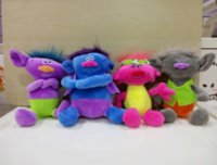Wholesale 4styles The Good Luck Trolls plush toys new cartoon trolls Stuffed Animals cm inches
