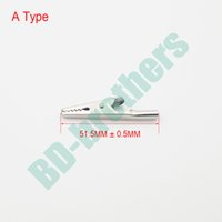 alligator clamps electrical - Metal Round Tail Alligator Clip crocodile electrical Clamp FOR Testing Probe Meter MM A Type Hardware accessories