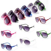 al por mayor juguetes para los niños de las muchachas-Las gafas de sol del diseñador de la marca de fábrica de la manera de las muchachas de los bebés de las gafas de sol de los cabritos embroma los vidrios de sol de los vidrios de Sun de los niños UV400
