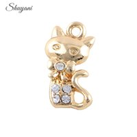 handmade craft - Alloy Metal Charms Cute Cat DIY Charm Pendants Handmade Crafts mm Silver Gold Plated