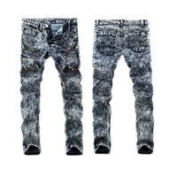 Wholesale Mens Robin Rock Revival Jeans Crystal Studs Denim Pants Designer Trousers Men s size New