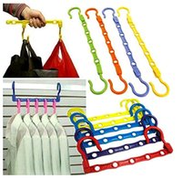 Wholesale 2Pcs Useful Hole Space Saver Wonder Magic Hanger Hook Closet Organizer Promotion V1NF