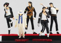 Celebrity Figure Yiwu Toy  Michael Jackson PVC Action Figure MJ Collection Model Toy 10cm New 5piece set One Christmas Gift for Kids Boys Home Decoration Supplies