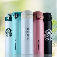 Wholesale 6 Colors Starbucks Thermos CUP Vacuum Flasks Thermos Stainless Steel Insulated Thermos Cup Coffee Mug Travel Drink Bottle ml