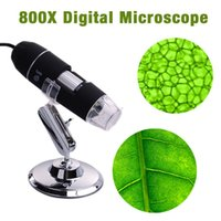 Wholesale 8 LED X USB Digital Microscope Endoscope Magnifier With Adjustable Stand TE071