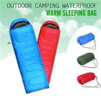 Wholesale Multifuntional Outdoor Thermal Sleeping Bag Envelope Hooded Travel Camping Keep Warm Water Resistant Sleeping Bags Lazy Bag