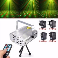 Wholesale Hot Sale Silver Mini R G Auto Voice Xmas DJ Disco LED Laser Stage Light Projector Remote