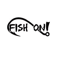 bass fishing rivers - 2017 Hot Sale Car Stying Fish On With Fishing Hook Vinyl Decal Sticker Boat Lake Creek River Bass Trout Jdm