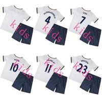 Wholesale T shirt Tottenham kids Football Shirt Mason Kane Lamela YEDLIN Lloris Eriksen Rose Leaves Blue kids