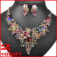 Wholesale 2017 New Fashion High Quality Imitation Gemstone African Bridal Jewelry Sets Party Jewelry Sets For women Gift