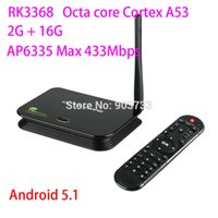 Wholesale WoYi Z4 android tv box RK3368 Octa core Cortex A53 Ghz G G android Lollipop HDMI2 H WiFi AP6335 GHz EKB368