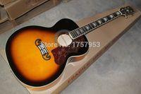 Wholesale new Top Factory custom shop j200 JUMBO sunburst acoustic guitar spruce top