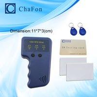 Wholesale Handheld Khz EM4100 RFID copier writer duplicator T5557 T5577 EM4305 writable keychains cards testing card