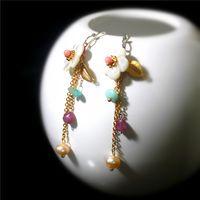 Wholesale Designer handmade custom B6060615 Shell Earrings Sterling Silver hypoallergenic Earrings Jewelry Fashion