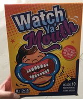 Wholesale Watch Ya Mouth SPEAK OUT Board Game Funny Family Mouth Guard Party Xmas gift Mouth Guard Party Board Game KKA1016