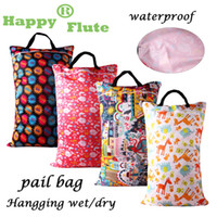 Wholesale Happy flute Large Hanging Wet Dry Pail Bag for Cloth Diaper Inserts Nappy Laundry With Two Zippered Waterproof Reusable