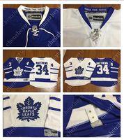 hockey jerseys - 2016 New Men s Toronto Maple Leafs Ice Hockey Jerseys Cheap Auston Matthews blue white Jersey Authentic Stitched Jerseys