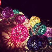 aa globe - LEDs Rattan Globe String Lights Christmas Wedding Decoration Fairy Lighting Kids Nursery Lamparas Pisca Pisca AA Battery V