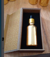 Wholesale ml cc OZ High Grade gold dropper glass bottle empty diy container essentical oil bottle