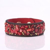 stone vision with best reviews - fashion vision Crystal and stone Tennis bracelets many colors for choice button connect bracelet jewelry for men or women HB00052