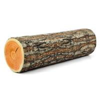Bon Marché Maisons en rondins de bois-2017 Nouveau Creative Natural Woods Design Log Soft Chair Coussin cadeau Home Sofa Oreiller en bois