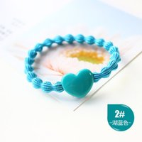 Wholesale Korean fashion accessories all match new hair headdress lotus shaped rubber ring love Oujie Hair Accessories hair rope rope bag mail