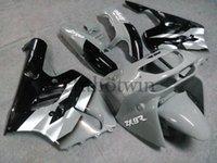 Carrosserie en ABS antidémarrage pour Kawasaki ZX-9R 1994-1997 ZX9R 94 95 96 97 noir argenté Kit de carrosserie de moto