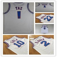 Wholesale Space Jam JD TAZ Bugs Sports Style Jerseys Tune Squad LOONEY TOONES Tops