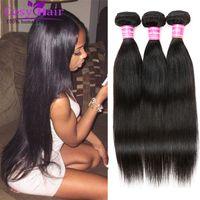 Wholesale Brazilian Human Hair Weave Bundles Brazilian Cambodian Soft Virgin Hair Straight Cheap Remy Human Hair Unprocessed Nature Black
