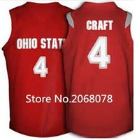 aaron craft - Majestic Ohio State Buckeyes Aaron Craft Basketball Jersey red white stitched name and number any size XXS XL Free delivery