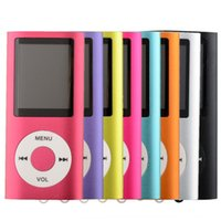 Wholesale Mini MP4 Music Digital Player th inch LCD With FM Radio Speakers Retail Packaging Free DHL