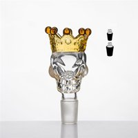 big holder - Big Crown Skull Glass Bowl Bong Dry Herb Holder mm mm Joint Color Smoke Tool Glass Bowls Slide Bongs Water Pipes