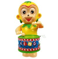 Wholesale Drumming drums monkey sun wukong chain wind up toys clockwork chain toys on the drums musical toys Musical Instrument