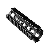 aluminum rails - PRO Model tactical Quad rail Sydtem AR M4 Drop in Handguard MTU001 carbin Length inch Picatinny Aluminum Black For Airsoft