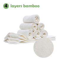 bamboo terry nappies - 30pcs Chinese factory low moq stock natural layers bamboo terry prefold diaperwashable baby cloth pocket nappy bamboo insert