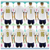 Wholesale New Product Uniforms Kit Soccer Jerseys Italy European cup ZAZA VERRATTI MARCHISIO DE ROSSI Away White Jerseys