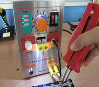 battery soldering - 1pc1 kw LED Pulse Battery Spot Welder A with Soldering Iron Station Spot Welding Machine for battery