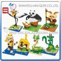 action panda - DHL Mini Qute Wise Hawk American cartoon Kung Fu Panda Po plastic building block brick model Action Figures educational toy