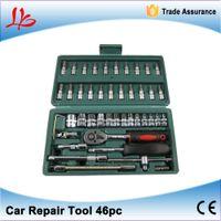 Wholesale 46pc Spanner Socket Set quot Car Repair Tool Ratchet Wrench Set Cr v hand tools Combination Bit Set Tool Kit