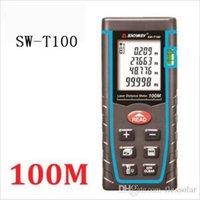 Wholesale T100 laser distance meter rangefinder m ft trena laser Bubble level range finder Building measure tape tester Tools