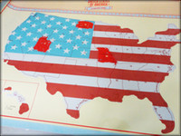 Wholesale Scratch Off US Map Wallpapers Tourism Portable Wall Stickers World Map American Version Walls Papers Novel Interest For Home Decorate jz