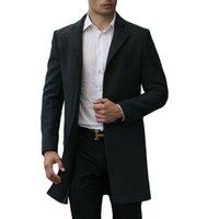 Men s woolen coat Preços-Atacado-feito à medida Outono Inverno Men's Casacos de lã Outono Inverno Homens Meninos de lã Casacos Longo Médio casacos e casacos masculinos mais tamanho