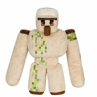 achat en gros de minecraft vidéo-2017 NOUVEAU Minecraft peluche jouets d'action Figure 36CM Minecraft Iron golem épée Pickaxe pierre lit boîte modèle jouets enfants jouets pour cadeau