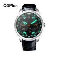 amoled touch screen - Q3plus q3 plus Smartwatch phone g sim android wifi bluetooth heart rate monitor gps inch amoled touch screen leather band pk kw88 dm368